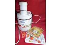 Jack Lalanne's Power Juicer with Instructions & Recipes, Good Working Order, Histon