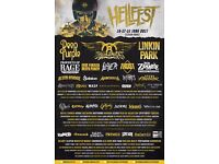 Hellfest 2017 package tour for two people (travel,ticket and camping)