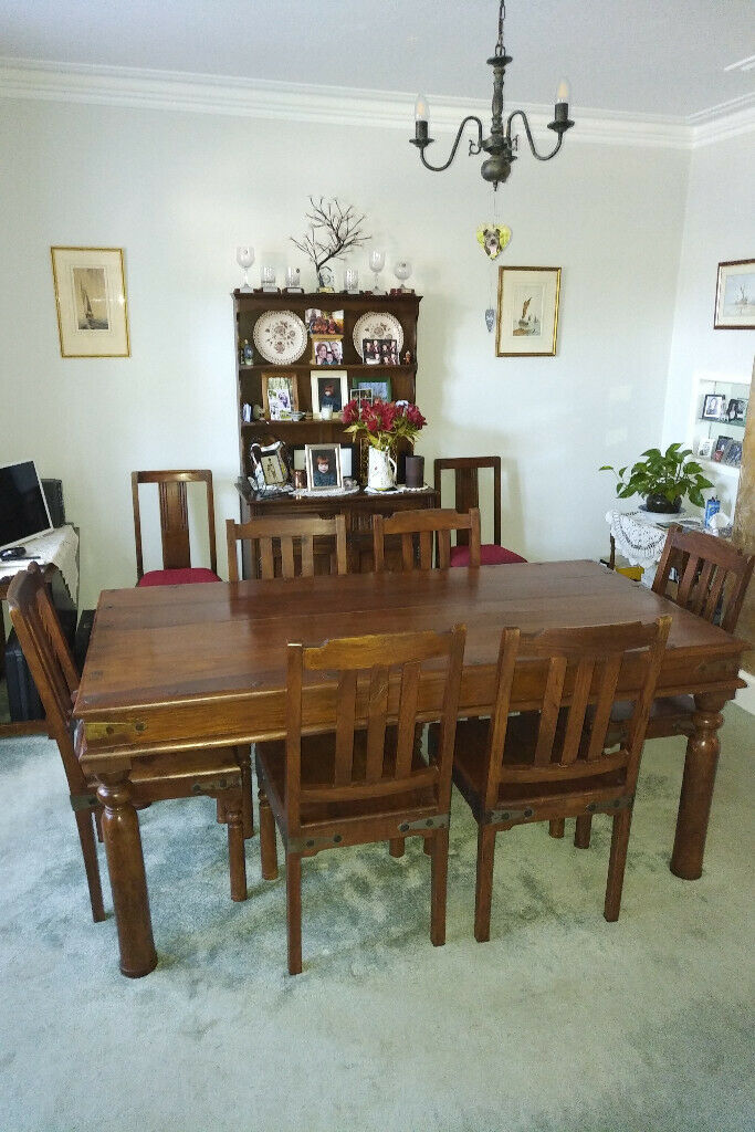 Indonesian style Dining Table and Six Chairs | in ...