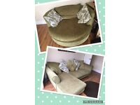 Ex con L shape sofa & swivel chair
