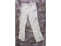 Aloha Technical quick drying Ladies Trousers. Low waist. Zip off at the knees. Size L (Size 12-14)