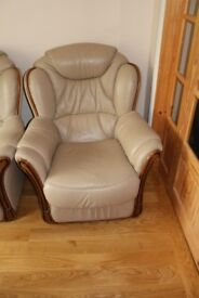 Leather Suites with 2 Armchairs and 1 Sofa