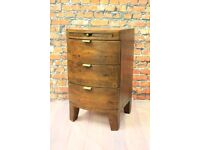 Barker and Stonehouse Bedside Drawers made from Reclaimed Solid Wood (Navajos Collection)