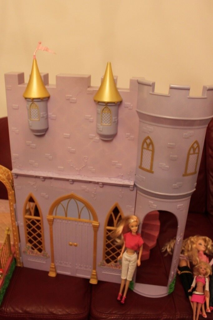 VERY LARGE TALL 12 DANCING PRINCESS BARBIE CASTLE PALACE HOUSE PLAYSET