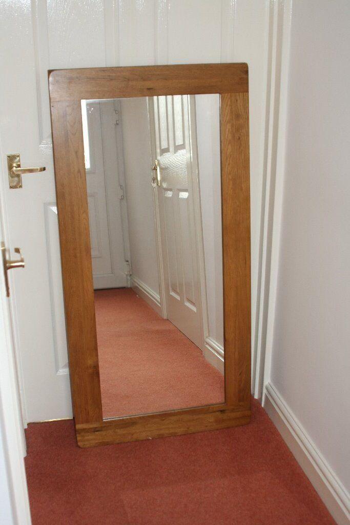 Rustic Solid Oak Frame Tall Mirror