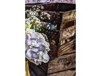 Vintage wooden crates - Wedding Decoration (3 pieces)
