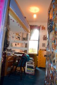 single room for artist/ art student in amazing artistic house with huge garden