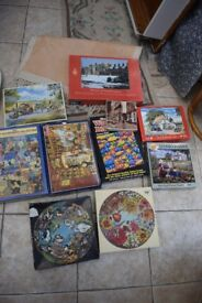 Collection of 10 Jigsaws (various sizes) all with one piece missing