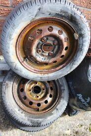 13 INCH CAR STEEL WHEELS
