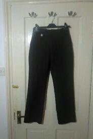 Boys black school uniform trousers ZECO 11-12yrs