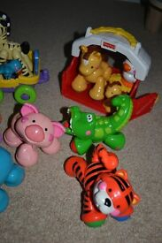 Fisher Price train and rare amazing animals, collectable set