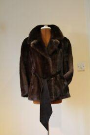 Timeless Women's real Mink fur jacket