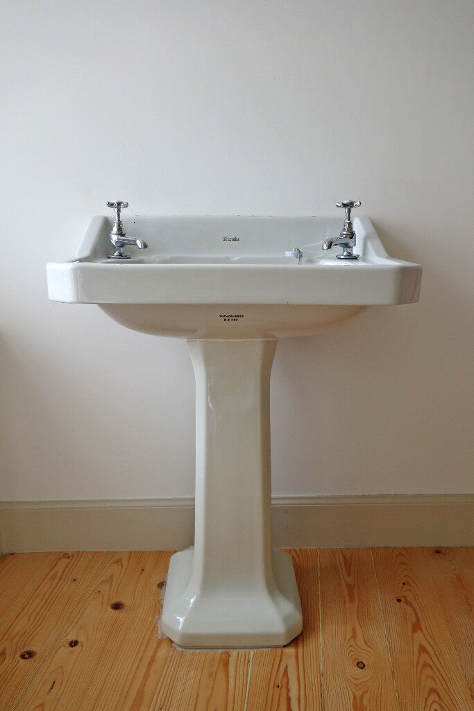 Vintage Art Deco Armitage Shanks Pedestal Sink With Bristan 1901 Taps Waste 15mm Tap Connectors In Anstruther Fife Gumtree