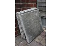 4 patio slabs
