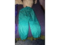 Ladies Rodeo salopettes, turquoise, size 12