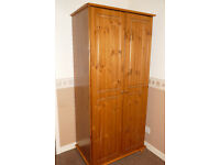 Pine Wardrobe (dual door)