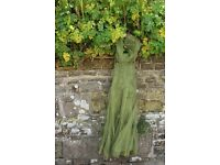 Size 14/16. Long, green, floaty dress. Jack-in-the Green, May Day, parties...