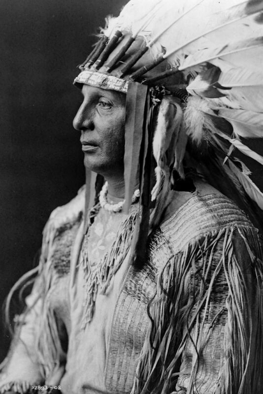 New 5x7 Native American Photo: White Shield, Arikara Indian Chief and Scout