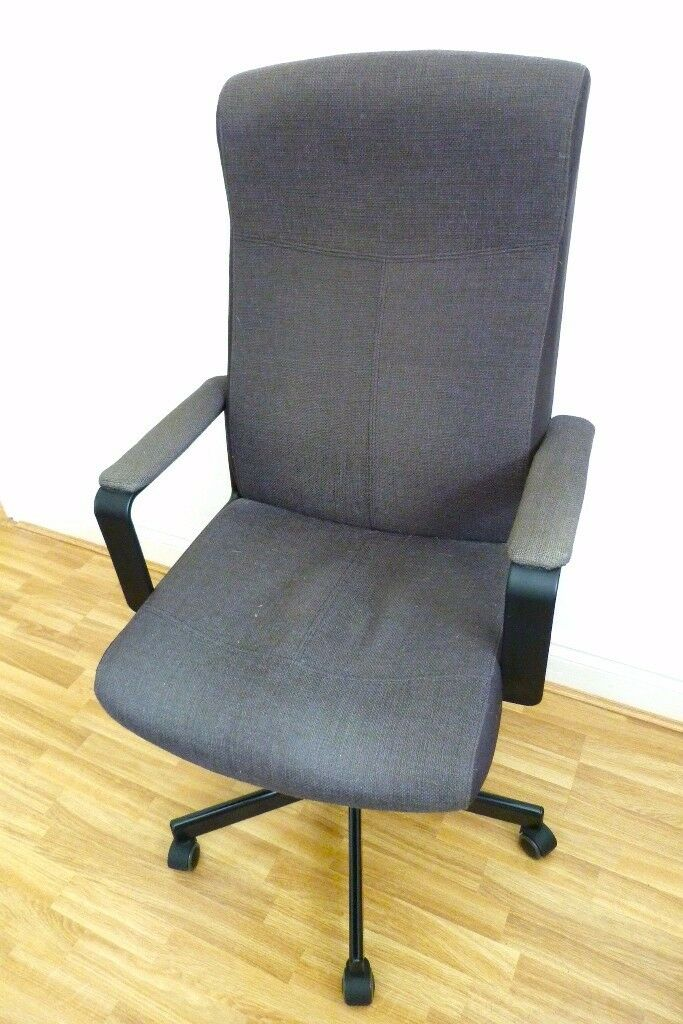 ikea malkolm like millberget office swivel chair in black fabric