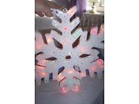 Christmas Light Up Snowflake