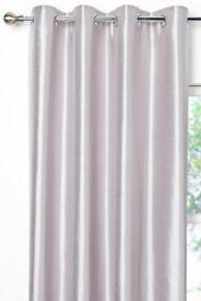 silver faux silk curtains