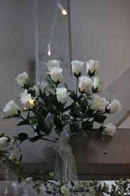 ivory rose sprays wedding x 3