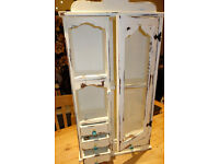 Upcycled Shabby Chic vintage french style hand finished wall cabinet