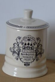 Kitchenalia: Vintage Fortnum & Mason Potted Stilton Cheese Ceramic Lidded Storage Jar Pot Container.