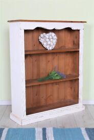 DELIVERY OPTIONS - SHABBY CHIC HAND PAINTED SOLID PINE BOOKCASE AUTHENTICO CHALK PAINT