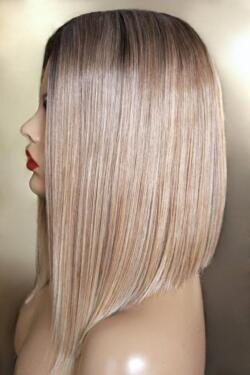 Perucke Futura Lace A Front Ombre Sombre Braun Blond Halblang Bob In