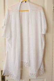 Women's White Cardigan S/M (UK 6/8)