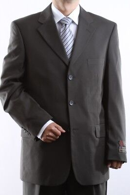 MEN'S SINGLE BREASTED 3 BUTTON OLIVE DRESS SUIT SIZE 36S, PL-60513-OLI