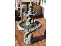 Henri studios classic serpent / cherub water feature/fountain