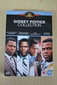 11 Sidney Poitier DVD's including To Sir With Love and In the Heat of the Night