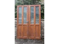 INTERNAL 6 PANEL STANDARD 1981 x 760 DOORS x 5 HALF GLAZED INTERNAL FRENCHDOOR SET 1968 x 685