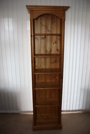 Solid pine open front display cabinet