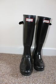 Midlnight Blue Womens Hunter Boots, Size UK5