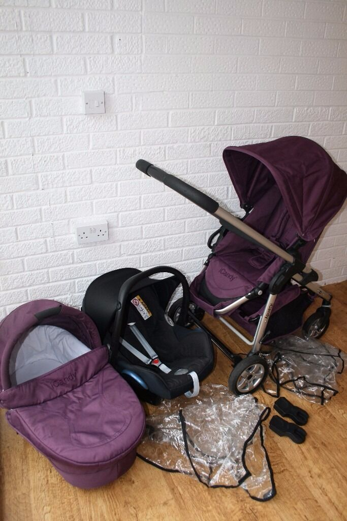 iCandy Cherry pram travel system with car seat 3 in 1 Mulberry ...