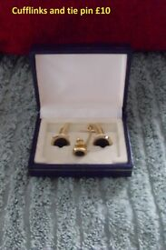 Cuff Links and Tie Pin
