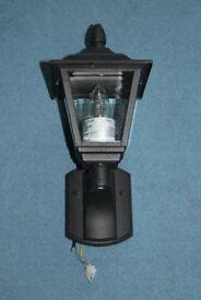 Black Metal Outdoor/Outside Wall Mounted Lantern Light
