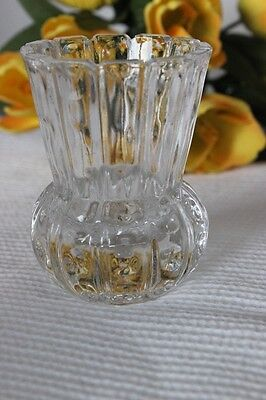 PICCOLO PORTAFIORI IN VETRO ANNI 70 H cm 7 - VINTAGE CUT GLASS FLOWER HOLDER