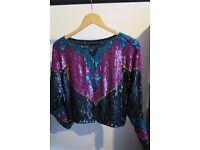 Vintage Sequin Top (100% silk)