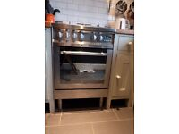 Stainless steel Hotpoint gas cooker