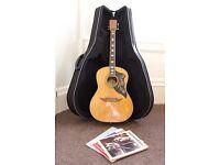 Kawai Acoustic Guitar w/ Hard Case For Sale