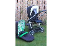 Mamas and Papas Sola travel system with brand new seat