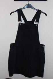 black denim dungaree dress pinafore size 16
