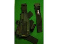 NEW - Arktis DPM Pattern LEFT LEG Drop Pistol Holster (RRP = £45) made to Mil Spec