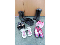 variety of different children's shoes