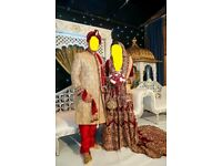Indian Bridal Wedding Dress Gown + Grooms Outfit £1900