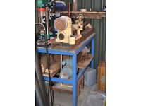 Myford ML8 wood lathe including tools some Robert Sorby chuck back plates rests etc Collection only